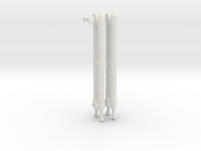 1:6 Decorative Radiator Parts - Legs in White Natural Versatile Plastic