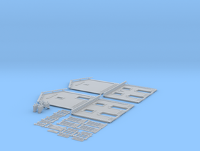 NGPLM22 Modular PLM train station in Smooth Fine Detail Plastic