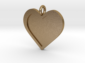 Heart Pendant in Polished Gold Steel