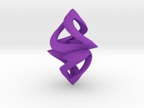 Trianon Twins, Pendant. Sharp Chic in Purple Processed Versatile Plastic