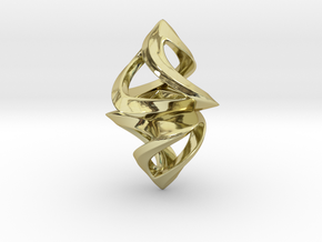 Trianon Twins, Pendant. Sharp Chic in 18k Gold Plated Brass
