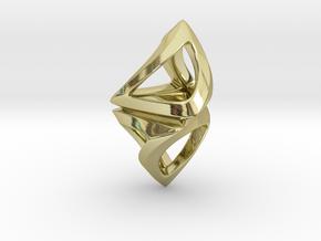 Trianon Twist, Pendant. Sharp Chic in 18k Gold Plated Brass