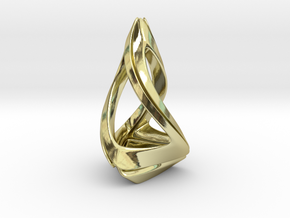 Trianon T.1, Pendant. Stylized Shape in 18k Gold Plated Brass