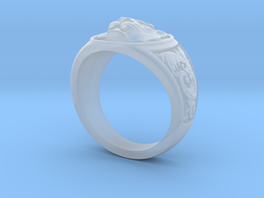 Tiger ring #4  size 9.5 in Smooth Fine Detail Plastic