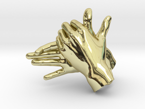 Dog - Hand Shadows in 18K Gold Plated
