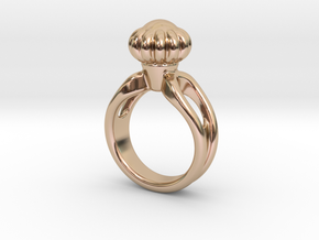 Ring Beautiful 17 - Italian Size 17 in 14k Rose Gold Plated Brass