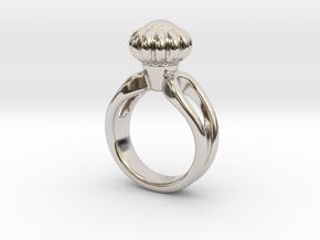 Ring Beautiful 21 - Italian Size 21 in Rhodium Plated Brass