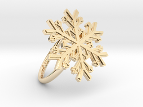 Snowflake Ring 1 d=18.5mm h21d185 in 14K Yellow Gold