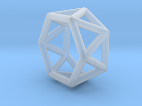 0418 Hexagonal Antiprism (a=1cm) #001 in Frosted Ultra Detail