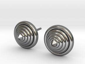 Lux spike Earrings in Polished Silver