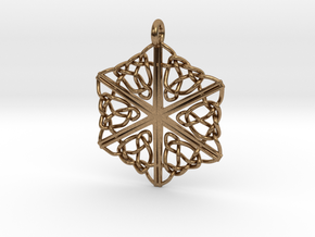 Dreamweaver Celtic Knot Hex in Natural Brass