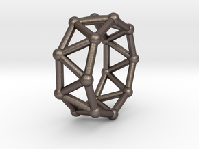 0431 Octagonal Antiprism (a=1сm) #002 in Polished Bronzed Silver Steel