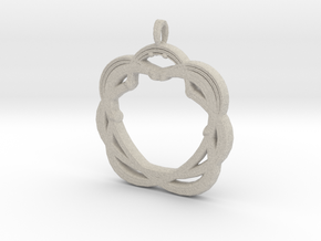 Original Shape Pendant in Natural Sandstone