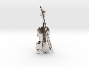 Violin and Bow Pendant in Platinum