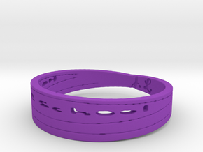 Homeschool class ring 2 Ring Size 11 in Purple Processed Versatile Plastic