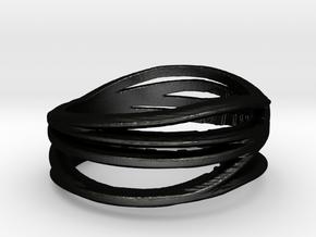 Simple Classy Ring Size 11 in Matte Black Steel