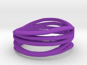 Simple Classy Ring Size 11 in Purple Processed Versatile Plastic