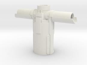 Kylo Ren Lightsaber Body Hilt Top Piece in White Natural Versatile Plastic