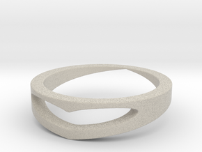 Heart Engraved Ring Size 7 in Natural Sandstone