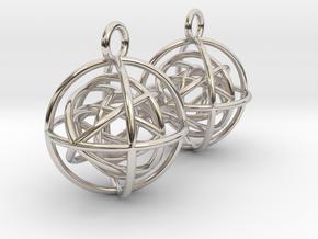 EarRings in Rhodium Plated Brass
