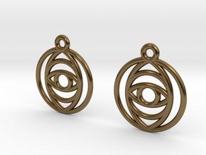 EyeEarrings in Polished Bronze