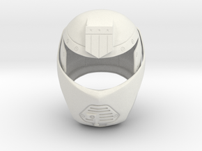 Judge Dredd 1995 - Judge Hunter Helmet in White Strong & Flexible
