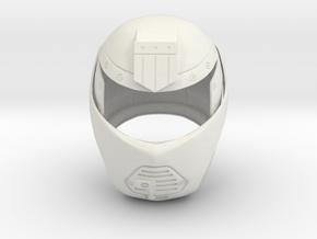 Judge Dredd 1995 - Judge Hunter Helmet in White Natural Versatile Plastic