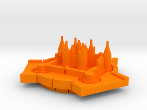 Château de Chambord in Orange Processed Versatile Plastic