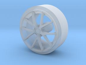 Front Corvette Spyder Wheel in Smooth Fine Detail Plastic