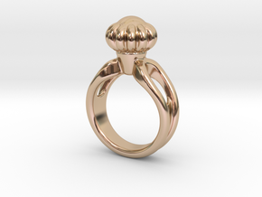 Ring Beautiful 25 - Italian Size 25 in 14k Rose Gold Plated Brass
