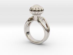 Ring Beautiful 27 - Italian Size 27 in Rhodium Plated Brass