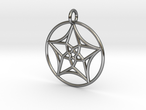 StarNeckLace in Polished Silver