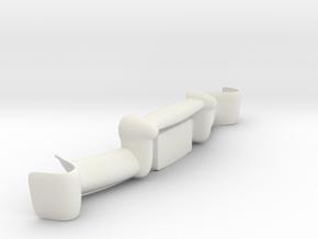 Merc Wagon Rear Bumpers in White Natural Versatile Plastic