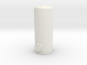 HO Vertical Tank H47mm in White Natural Versatile Plastic