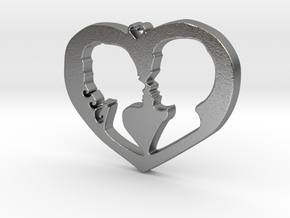 Two in Love Pendant - Amour Collection in Natural Silver