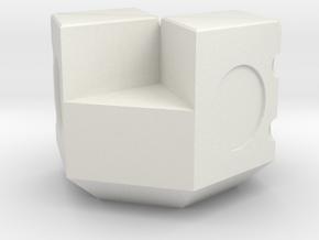 NXS - 4-2s Piece in White Natural Versatile Plastic
