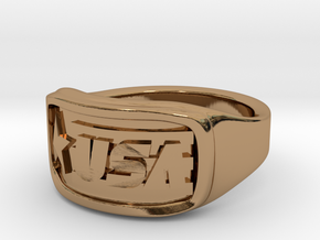 Ring USA 66mm in Polished Brass