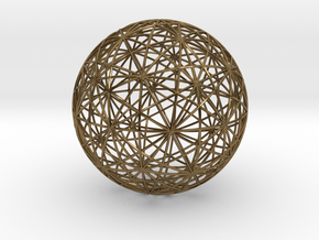 Symmetry sphere for icosahedron in Polished Bronze