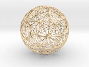 Symmetry sphere for icosahedron in 14k Gold Plated Brass