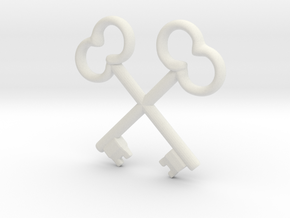 Wes Anderson Society of Crossed Keys in White Natural Versatile Plastic