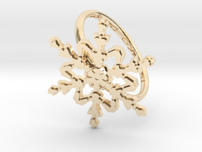 Snowflake Ring 2 d=19.5mm h21d195 in 14k Gold Plated Brass