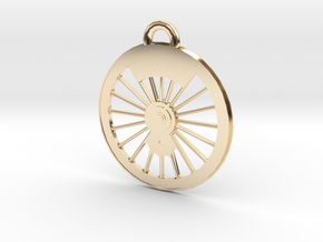 New York Central #999 Driver Necklace in 14K Yellow Gold