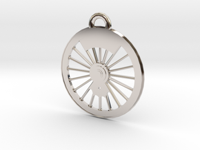 New York Central #999 Driver Necklace in Rhodium Plated Brass