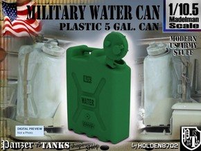 1-10.5 Military Water Can in Green Processed Versatile Plastic