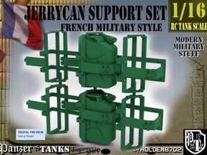 1-16 Support Jerrycan in Green Processed Versatile Plastic