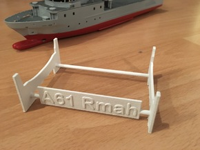 Rmah (A61), Display Stand in White Strong & Flexible Polished