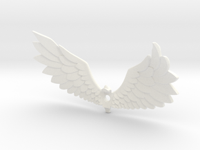 Courage Wings in White Processed Versatile Plastic