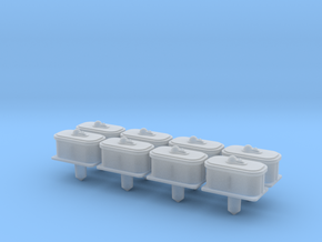 """O"" SCALE!  8PK PRR Air Valve for Switch Machines in Smooth Fine Detail Plastic"