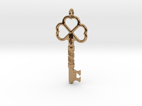 Love Key in Polished Brass