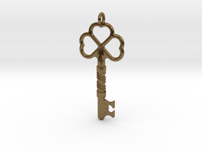 Love Key in Polished Bronze